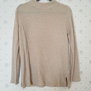 Cream & tan sweater